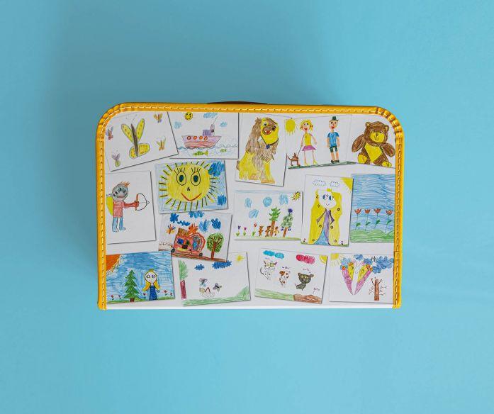 Kufřík vzpomínek – velký žlutý