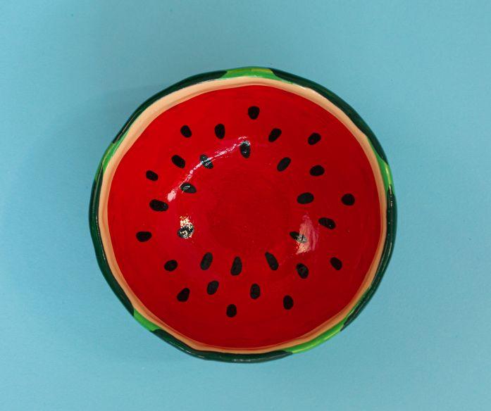 Keramická miska ovoce - meloun