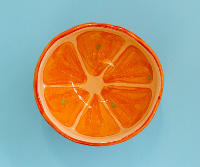 Keramická miska ovoce - pomeranč