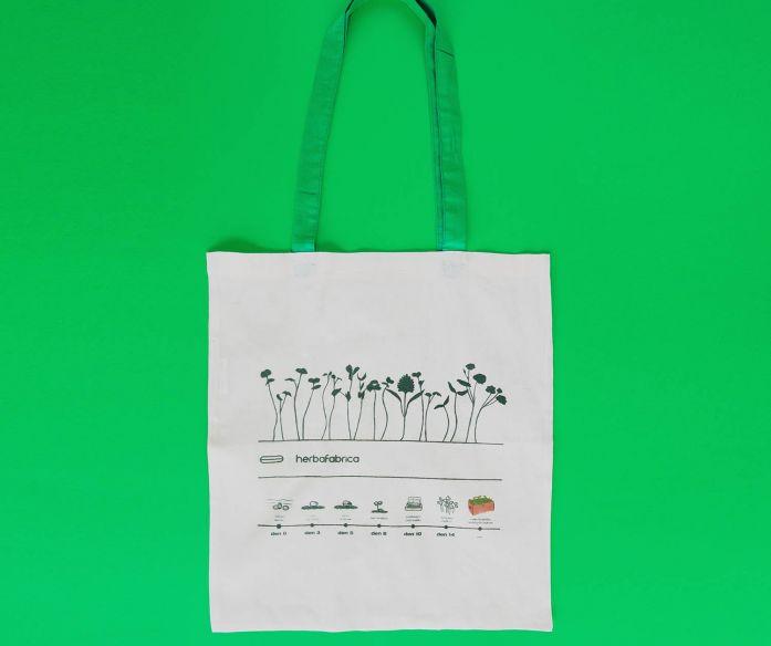 Plátěná taška s potiskem – od semínka po rostlinku