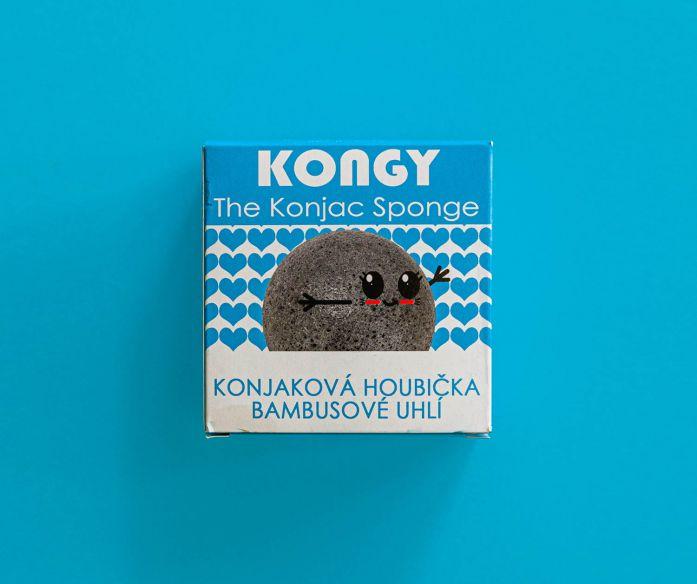 Kongy Konjaková houbička - bambusové uhlí