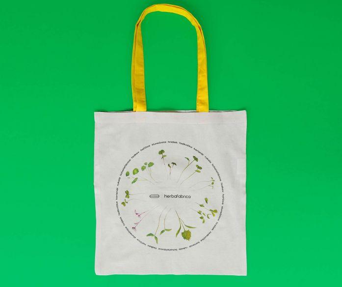 Plátěná taška s potiskem – bylinkový kruh