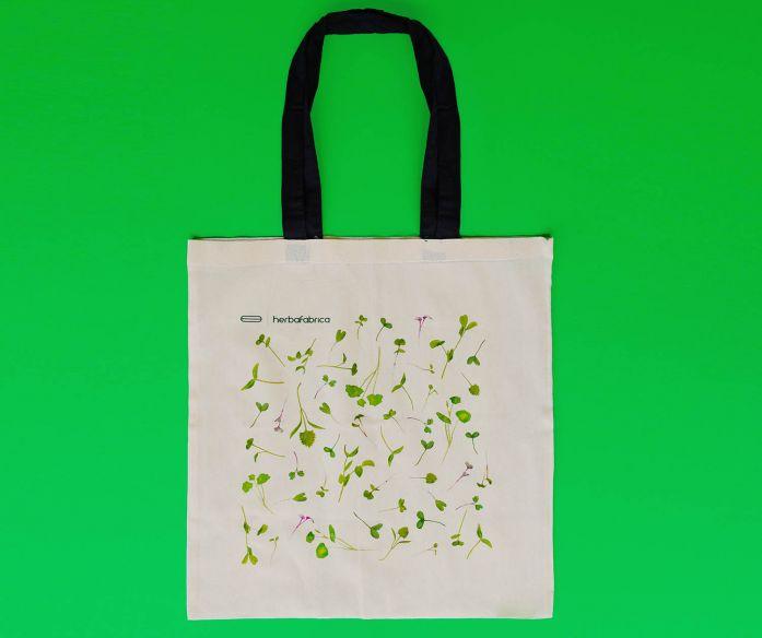 Plátěná taška s potiskem – mikrobylinky